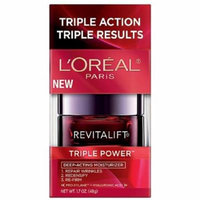 L'Oreal RevitaLift Triple Power Deep-Acting Moisturizer 1.70 oz (Pack of 4)