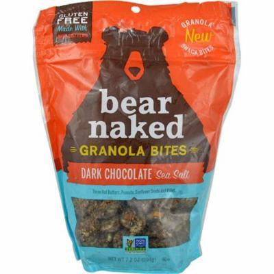 Bear Naked Granola Bites Gluten Free Dark Chocolate Sea Salt -- 7.2 oz pack of 12