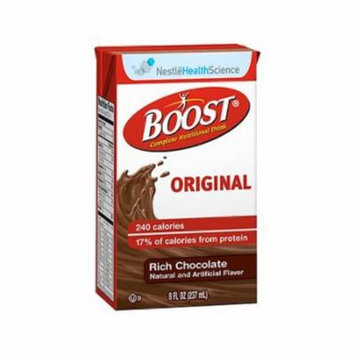 Boost Original Oral Supplement Rich Chocolate 8 oz. Carton Ready to Use - Case of 27