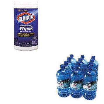 KITCOX01761EAOFX00026 - Value Kit - Office Snax Bottled Spring Water (OFX00026) and Clorox Disinfecting Wipes (COX01761EA)