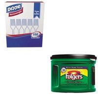 KITDXEFH207FOL00374CT - Value Kit - Folgers Ground Coffee (FOL00374CT) and Dixie Plastic Cutlery (DXEFH207)