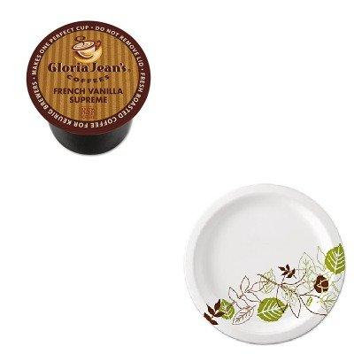 KITDIE60051046CTDXEUX9WSPK - Value Kit - Green Mountain Coffee Roasters French Vanilla Supreme Coffee K-Cups (DIE60051046CT) and Dixie Pathways Mediumweight Paper Plates (DXEUX9WSPK)
