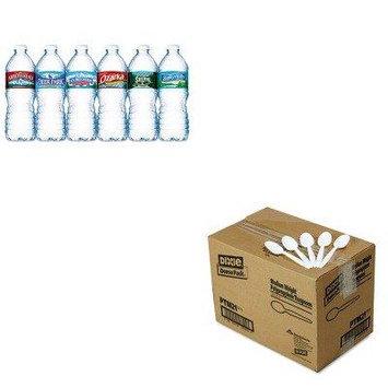 KITDXEPTM21NLE101243 - Value Kit - Dixie Plastic Cutlery (DXEPTM21) and Nestle Bottled Spring Water (NLE101243)