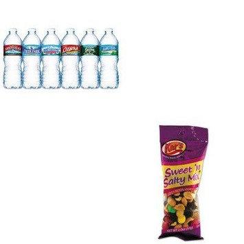 KITAVTSN08387NLE101243 - Value Kit - Kar's Nuts Caddy (AVTSN08387) and Nestle Bottled Spring Water (NLE101243)