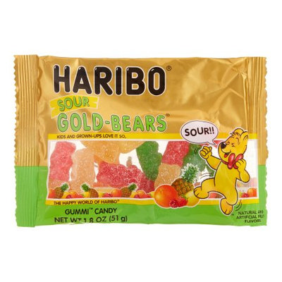Haribo Sour Gold Bears Candy, 1.8 Oz (Innerpack of 24)