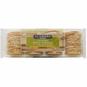 Sesmark Sesame Rice Thins, 4.25 oz, (Pack of 12)