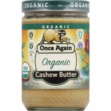 Once Again Organic Cashew Butter, 16 oz, (Pack of 12)