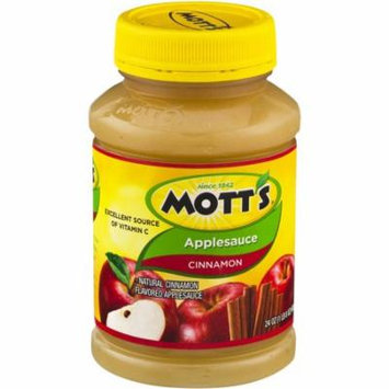Mott's Cinnamon Applesauce, 24 oz, (Pack of 12)