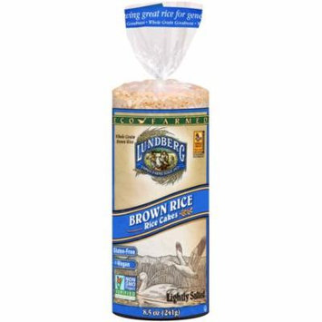 Lundberg Eco-Farmed Lightly Salted Brown Rice Rice Cakes, 8.5 oz, (Pack of 12)