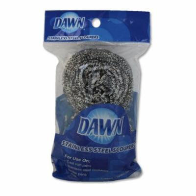 Dawn 2 Pack Stainless Steel Scourers, 2 scourers