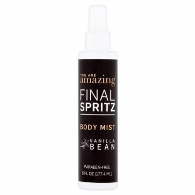 You Are Amazing Final Spritz Vanilla Bean Body Mist, 6 fl oz