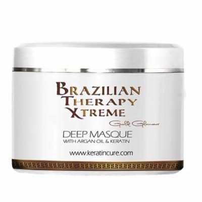Keratin Cure Brazilian Therapy Xtreme with Argan Oil - Shea Butter 250 g / 8 Oz Deep Masque Mask Conditioning Moisturizing Repair Soften Hair Treatment 250g/8floz
