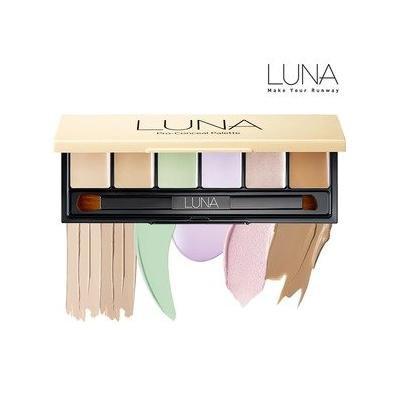 LUNA PRO Conceal Palette 9g/0.32oz - 6 Colors Contour Face Cream Concealer Camouflage Makeup Pallet