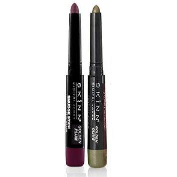 Skinn Cosmetics Smudge Stick for Eyes - Set of 2 Waterproof Eye Pencils - Golden Olive & Golden Plum
