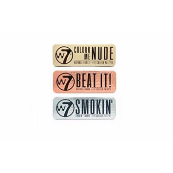 W7 Colour Me Nude, Beat It Natural Nudes & Smokin' Shades Eye Shadow Palette Set