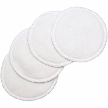 NuAngel White Cotton Washable Nursing Pads - 4 count