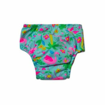 Swim Time Newborn Baby Girls Flamingo Garden Printed Side Snap Reusable Swim Diaper Bottom with Built