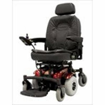 6 Runner Power Chair Color: Red