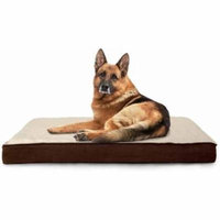 FurHaven Faux Sheepskin & Suede Deluxe Orthopedic Dog & Cat Bed, Large, Espresso