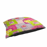Thumbprintz Hearts and Flowers Large Rectangle Pet Bed
