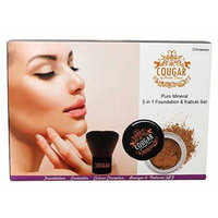 Cougar Beauty Products 5 in 1 Mineral Foundation, Brush Natural Light, 114 Gram