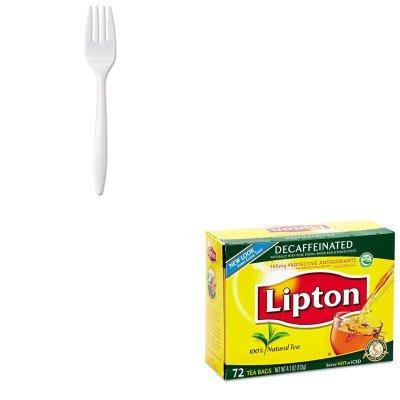 KITGERMWFIWLIP290 - Value Kit - Lipton Tea Bags (LIP290) and General Supply Wrapped Cutlery (GERMWFIW)
