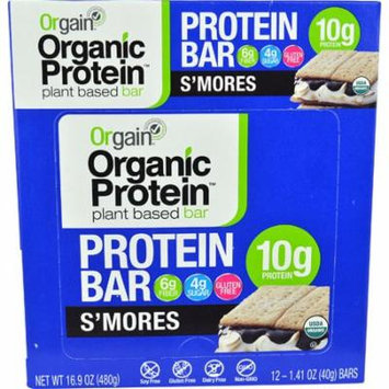Orgain Organic Protein Bar S'Mores -- 12 Bars pack of 4