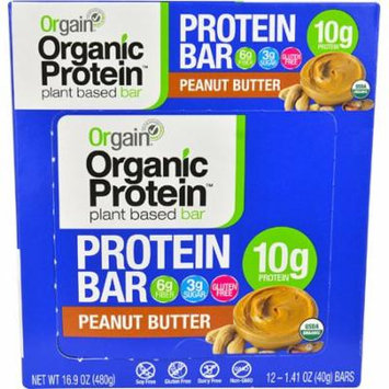 Orgain Organic Protein Bar Peanut Butter -- 12 Bars pack of 3