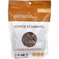 Purely Elizabeth Grain-Free Granola Gluten Free Banana Nut Butter -- 8 oz pack of 6