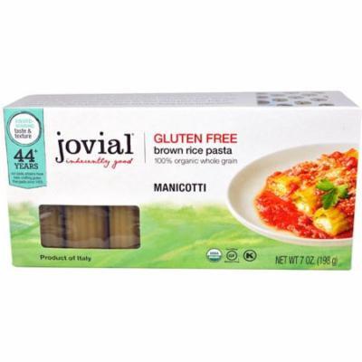Jovial Gluten Free Brown Rice Pasta Manicotti -- 7 oz pack of 12