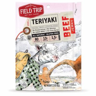 Field Trip All Natural Gluten Free Beef Jerky Teriyaki -- 2.2 oz pack of 6