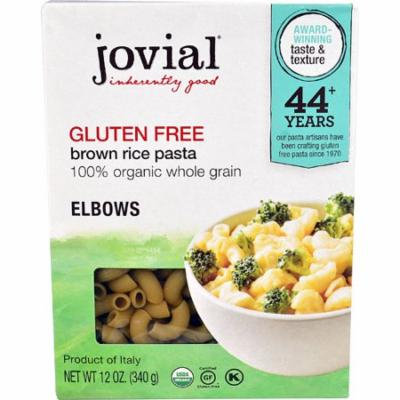 Jovial Gluten Free Brown Rice Pasta Elbows -- 12 oz pack of 6