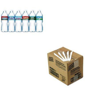 KITDXEPKM21NLE101243 - Value Kit - Dixie Plastic Cutlery (DXEPKM21) and Nestle Bottled Spring Water (NLE101243)