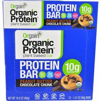 Orgain Organic Protein Bar Peanut Butter Chocolate Chunk -- 12 Bars pack of 3