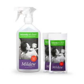 2-Pack 24oz Naturally It's Clean Mildew Stain Eraser; Enzyme Cleaner Safely Cleans All Water Washable Surfaces, Removing Mold&Mildew Stains&Remove Odors; Non-Toxic, Pet Safe&Child Safe