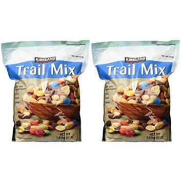 Kirkland Signature, Trail Mix, Peanuts, Raisins, uBmAX Almonds and More 4 Pound (Pack of 2) WyFPL