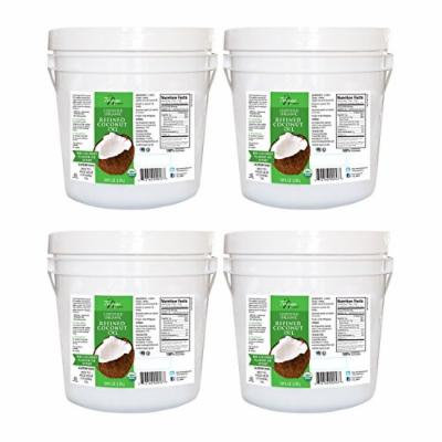 Tresomega Nutrition Organic Refined Coconut Oil, 128 Ounce (Pack of 4)