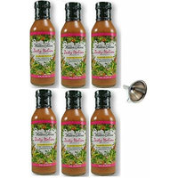 Walden Farms Zesty Italian Salad Dressing 12 fl oz, 6 Pack With Funnel