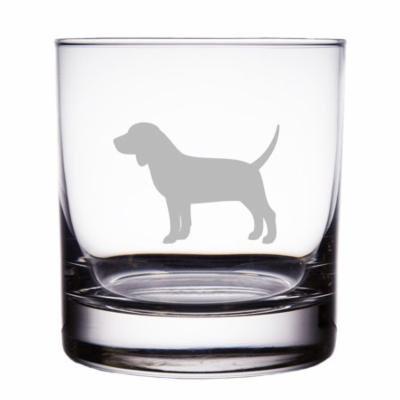 Beagle Dog Breed Engraved 10 oz Rock Glass