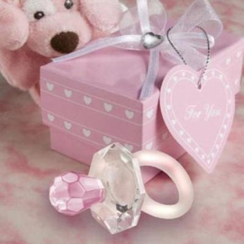 Choice Crystal Pink Pacifier Favors pack of 40