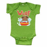 Dog in Bath Bucket Infant Creeper