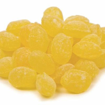 Sanded Lemon Drops Old Fashioned Hard Candy 2 pounds Claey's Candies
