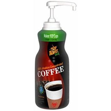 Top Roast Decaf Concentrate w/ Microground Liquid Coffee , 15.2 Ounce Pump Bottle - Makes 100 Cups