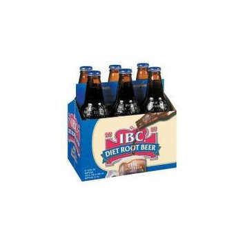 IBC Diet Root Beer Glass Bottles 12oz. (Pack of 12) Caffeine free