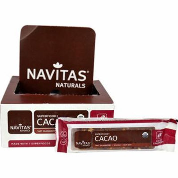 Navitas Naturals Organic Superfood+ Nut Bar Cacao Cranberry -- 12 Bars pack of 4