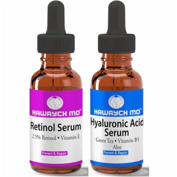 Hawrych MD 2.5% Retinol Serum and Hyaluronic Acid Serum Set