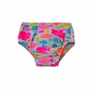Swim Time Newborn Baby Girls Fishy Printed Side Snap Reusable Swim Diaper Bottom with Built