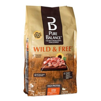 Pure Balance Grain Free Wild & Free Turkey Dry Cat Food, 3 Lb