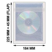CheckOutStore 500 OPP Plastic Wrap Bag for DVD Case 45mm