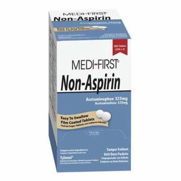 MEDI-FIRST Non-Aspirin Pain Relief,Tablet,PK100 80333